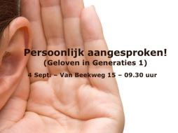 1 Sam 13 - Persoonlijk aangesproken (Geloven in Generaties) Ermelo